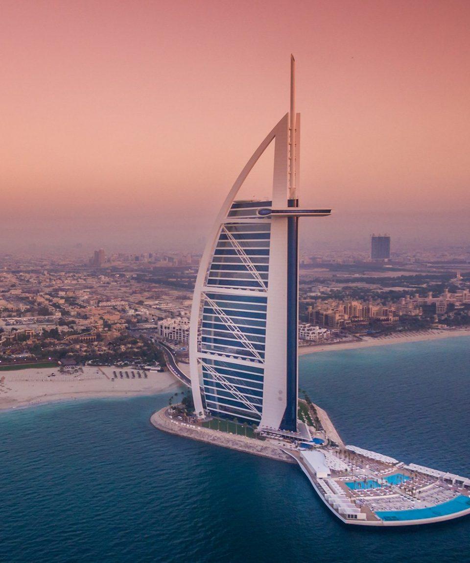 Burj Al Arab Jumeirah - The Terrace - Twin Aerial Pink